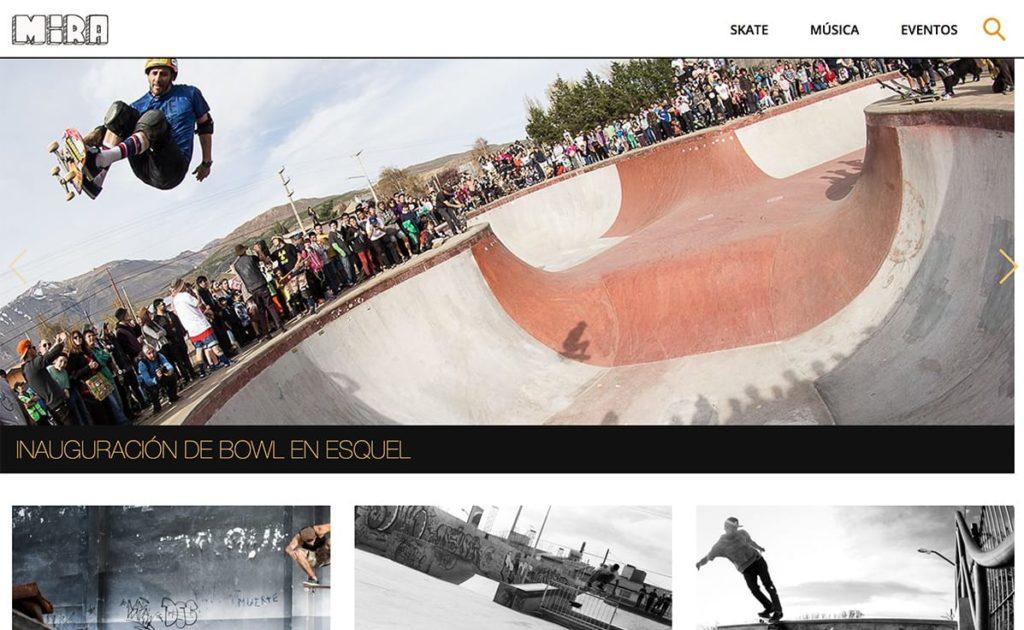 Home page del sitio web de MIRASB hecho con KumbiaPHP