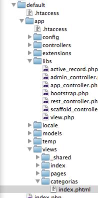 ScaffoldController: Listado de directorios y archivos para la nueva vista index del controlador de categorías