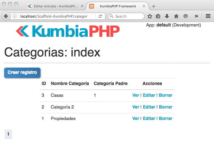 ScaffoldController: Vista de navegador para el reemplazo de la vista index en el controlador de categorías