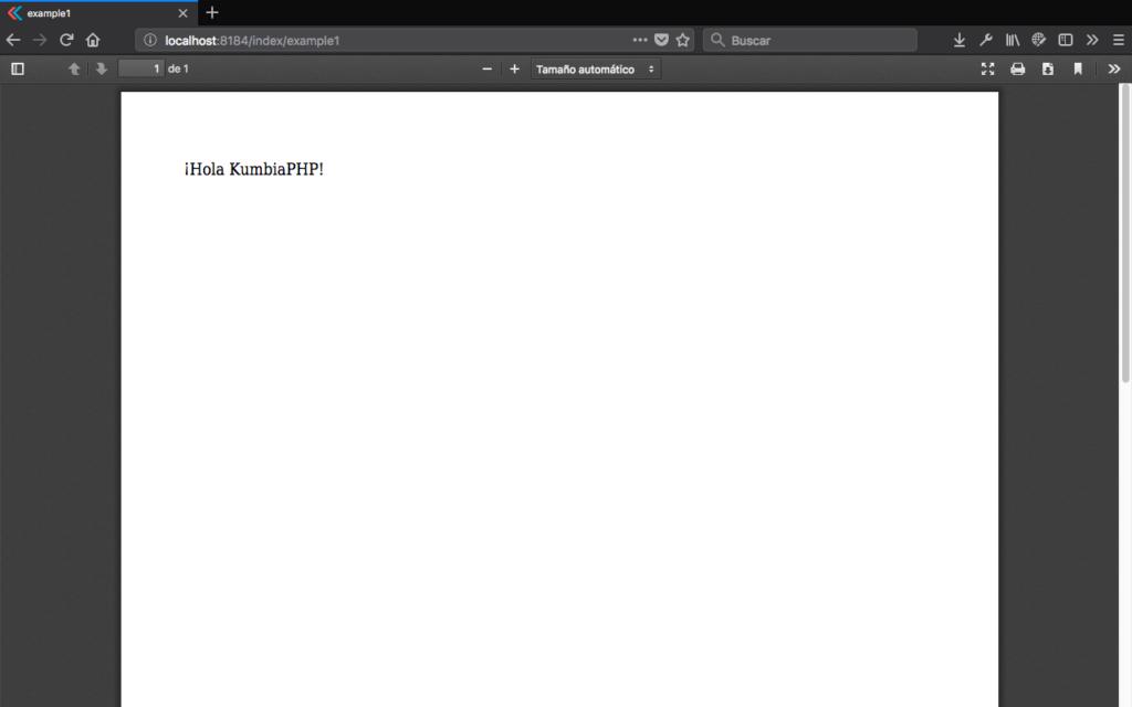 Ejemplo de crear PDF con HTML