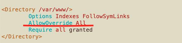 luego de cambiar la configuración